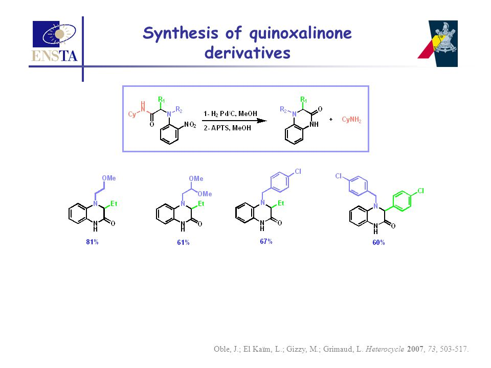 Synthesis of quinoxalinone derivatives