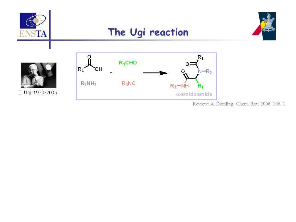 The Ugi reaction I. Ugi:1930-2005