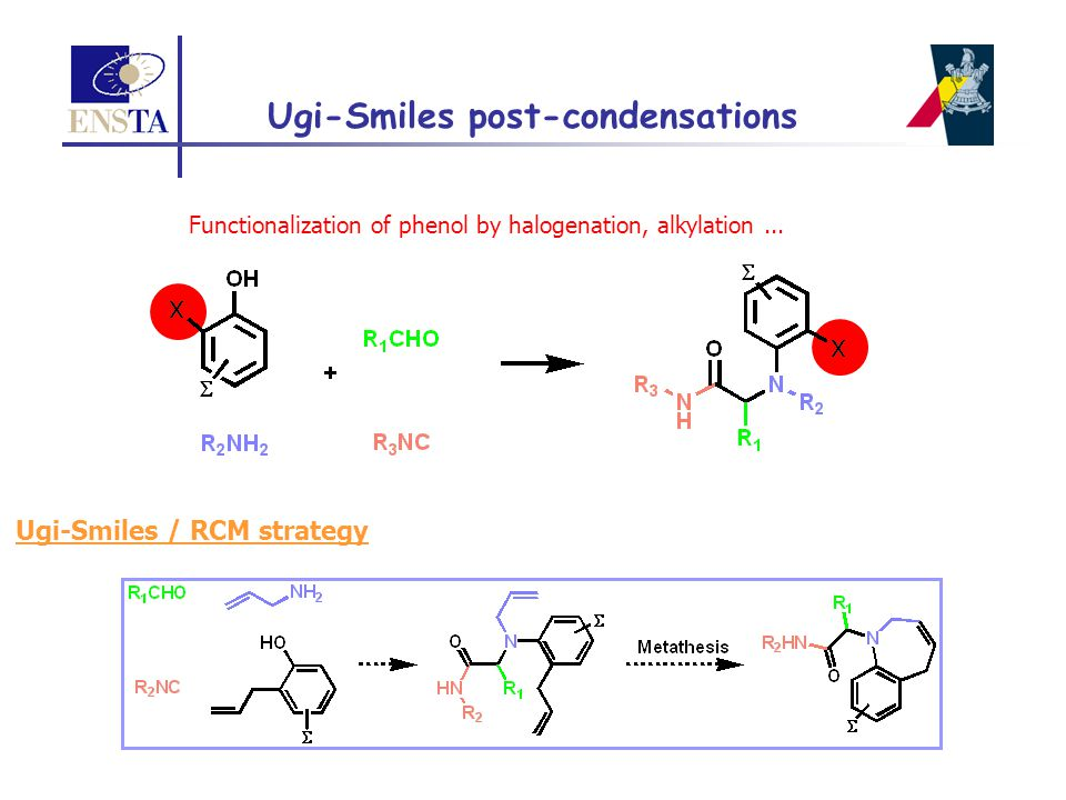 Ugi-Smiles post-condensations Ugi-Smiles / RCM strategy