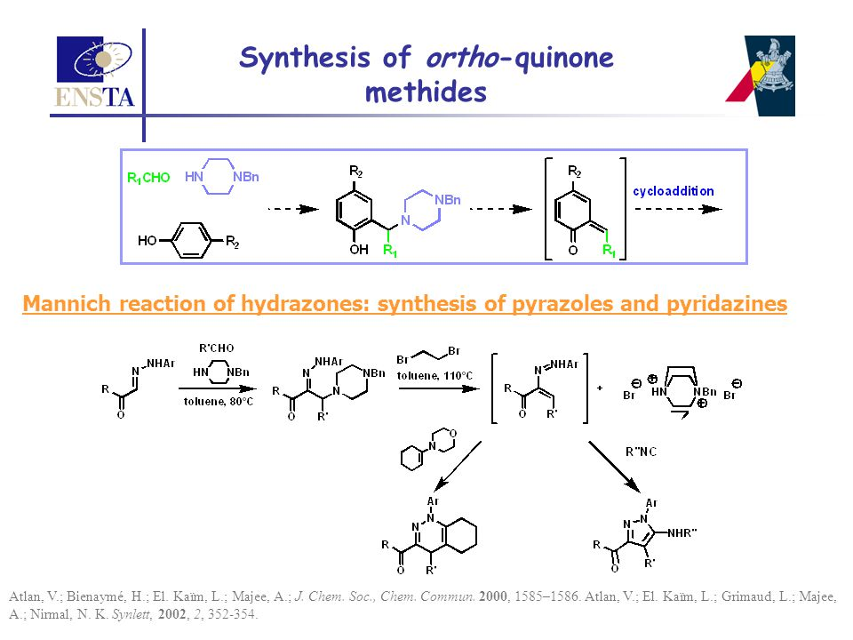 Synthesis of ortho-quinone methides