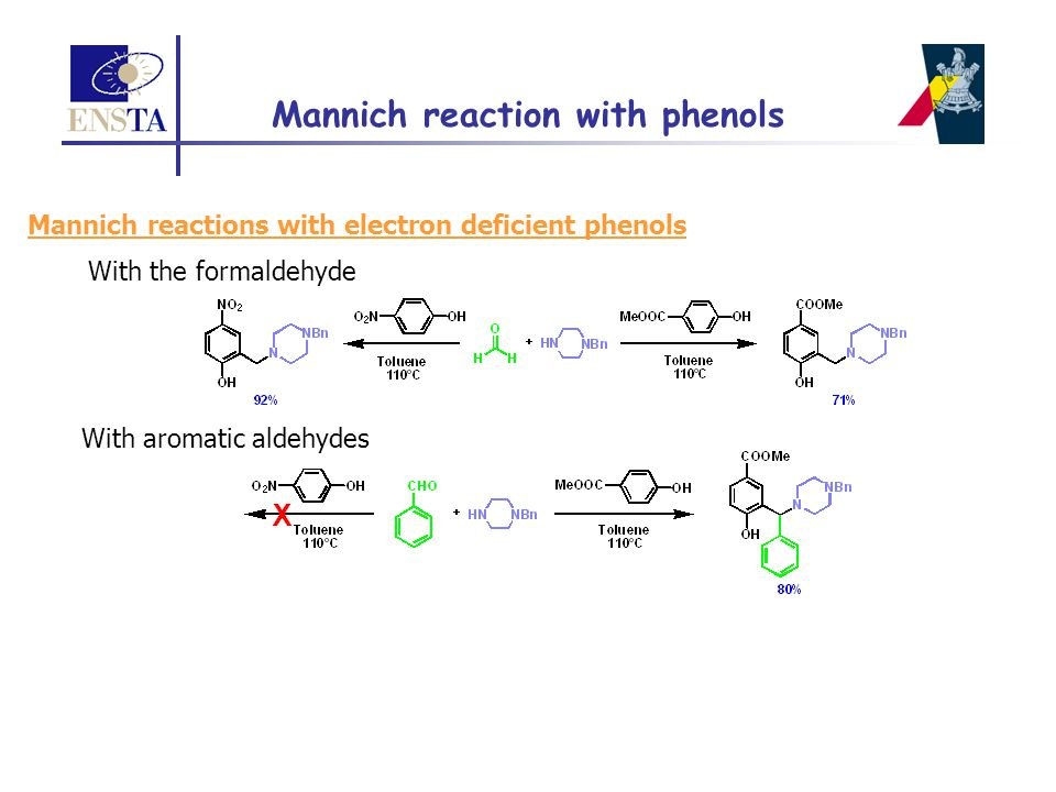 Mannich reaction with phenols