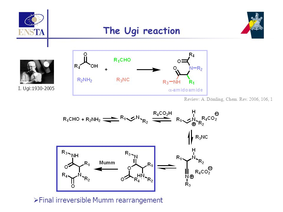 The Ugi reaction Final irreversible Mumm rearrangement
