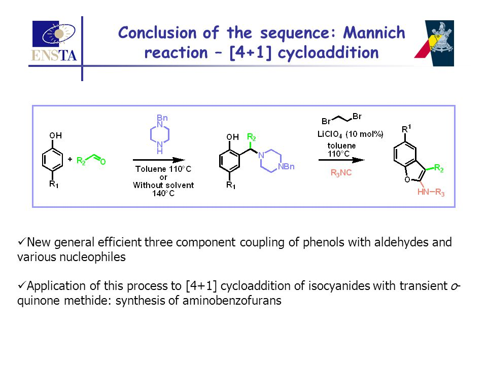 Conclusion of the sequence: Mannich reaction – [4+1] cycloaddition