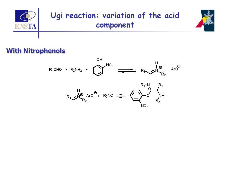 Ugi reaction: variation of the acid component