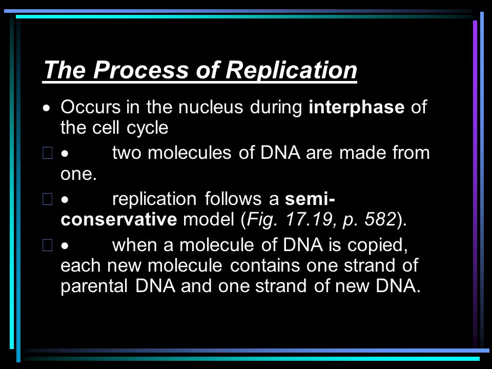 The Process of Replication