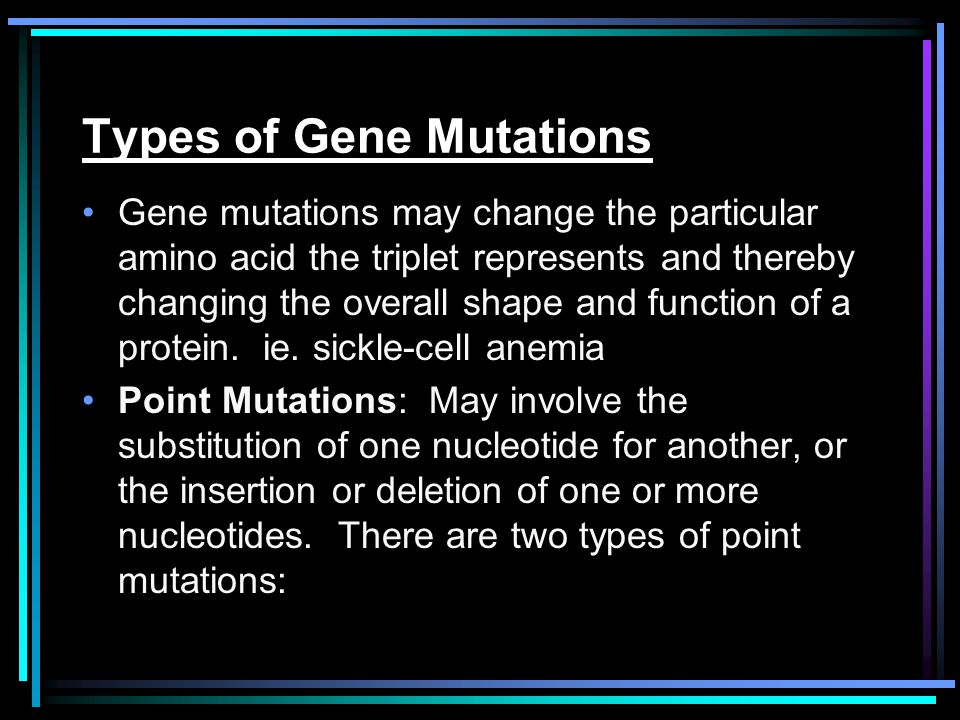 Types of Gene Mutations
