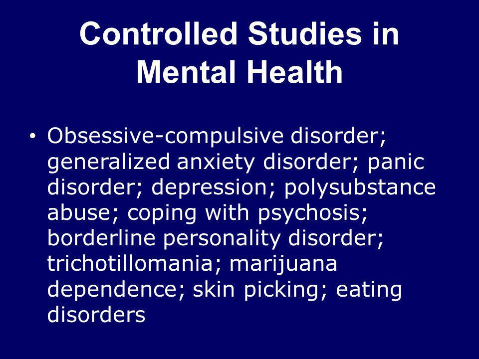 Controlled Studies in Mental Health