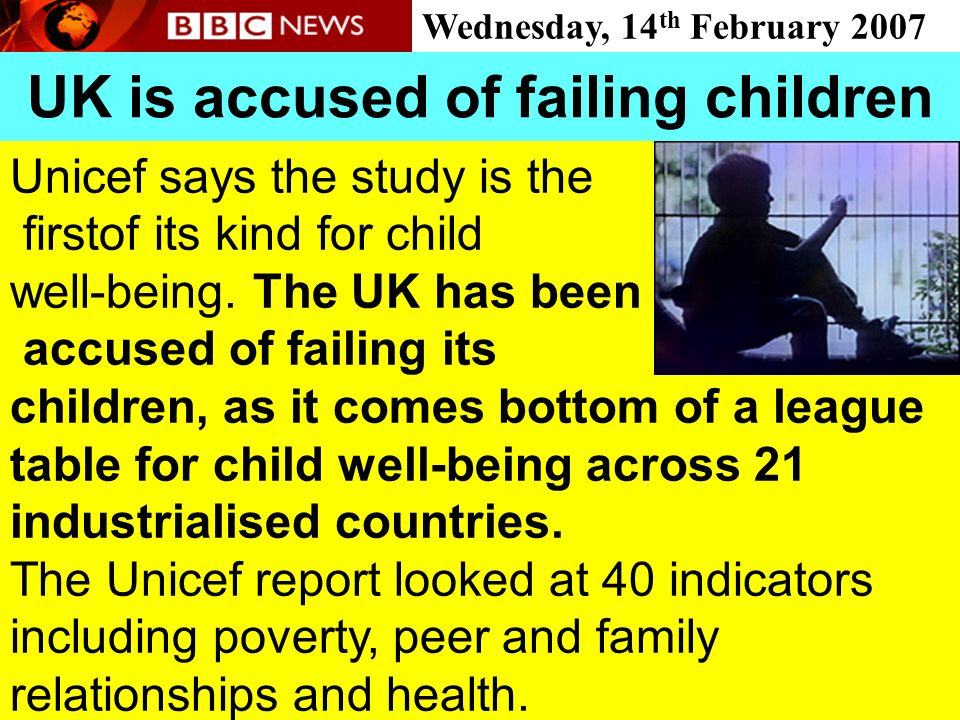 UK is accused of failing children