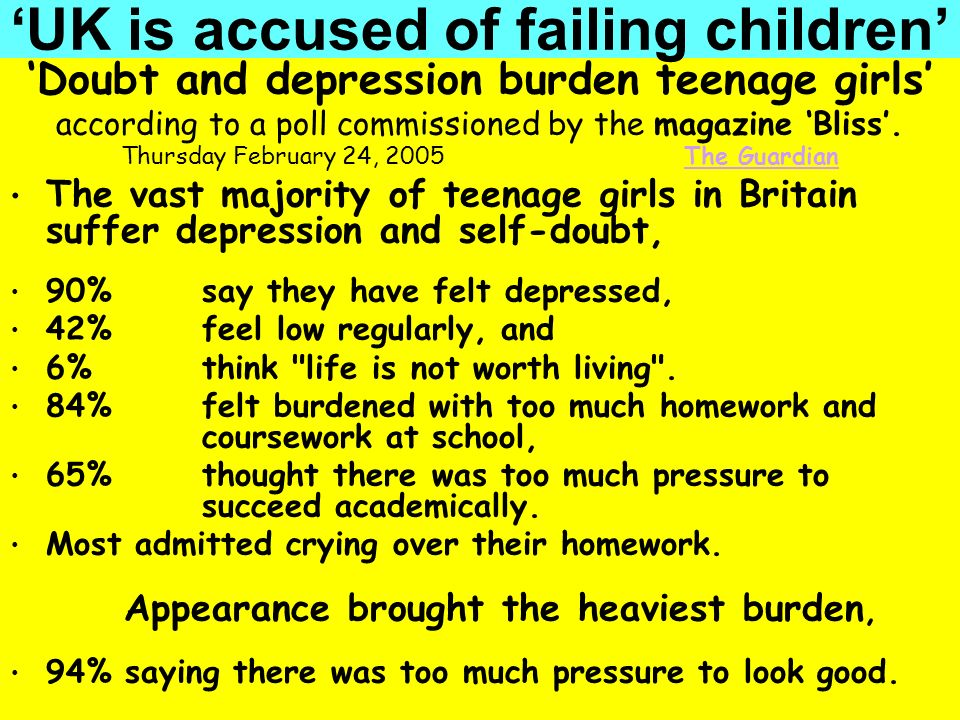 'UK is accused of failing children'