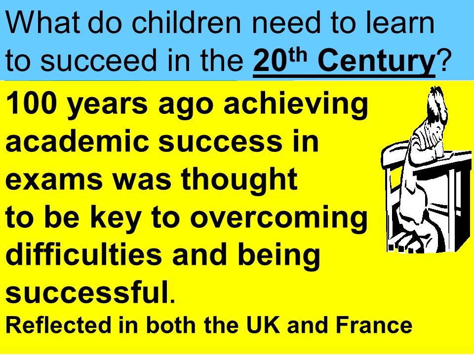 What do children need to learn to succeed in the 20th Century