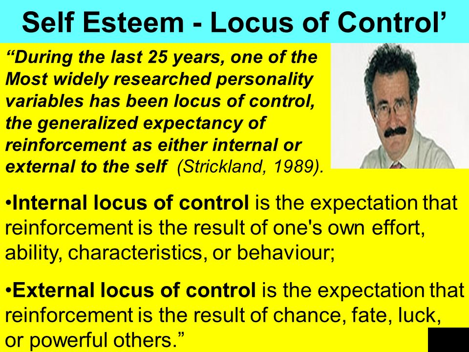 Self Esteem - Locus of Control'