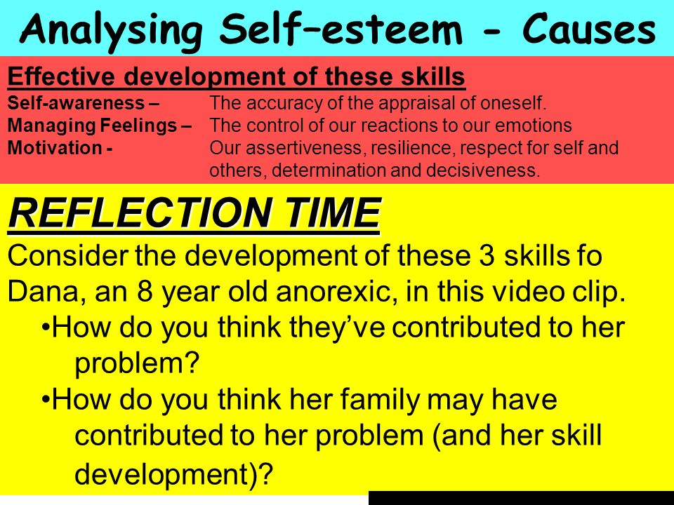 Analysing Self–esteem - Causes