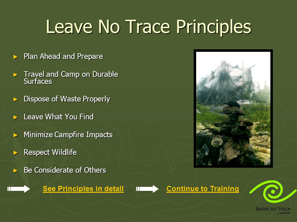 Leave No Trace Principles