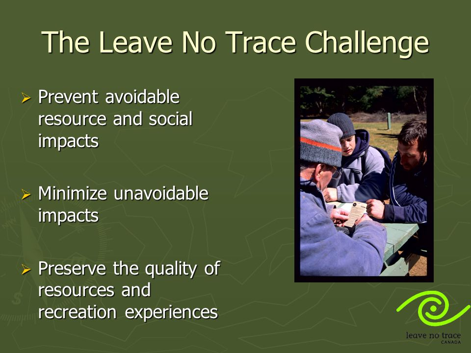 The Leave No Trace Challenge