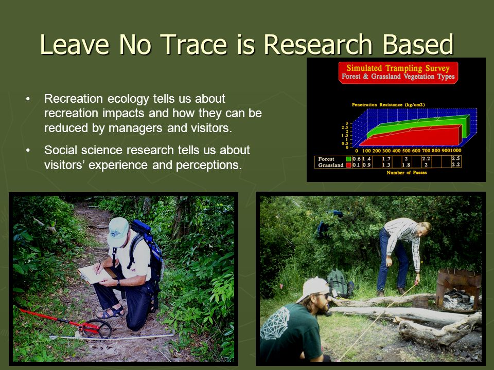 Leave No Trace is Research Based