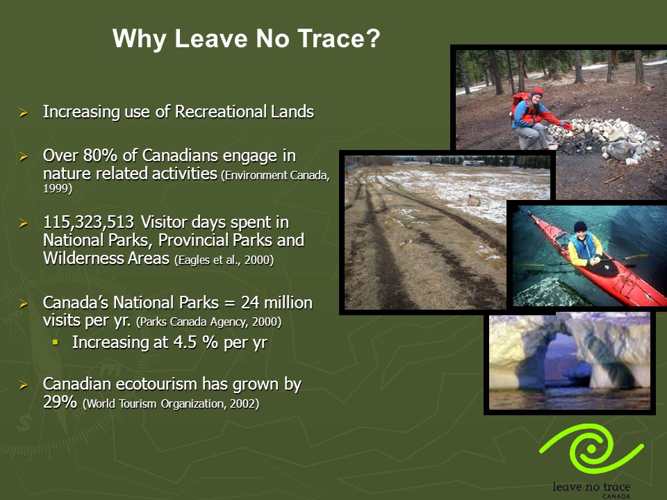 Why Leave No Trace Increasing use of Recreational Lands