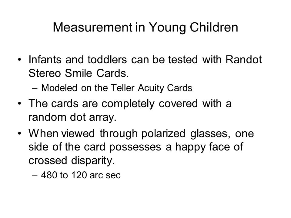 Measurement in Young Children