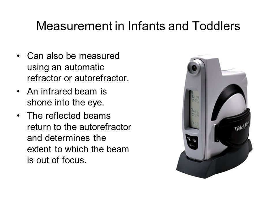 Measurement in Infants and Toddlers