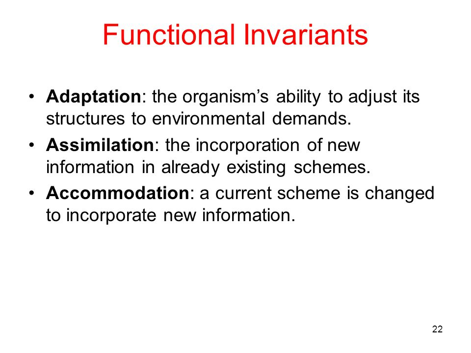 Functional Invariants