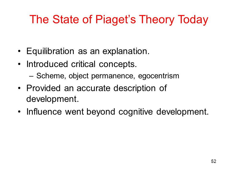 The State of Piaget's Theory Today