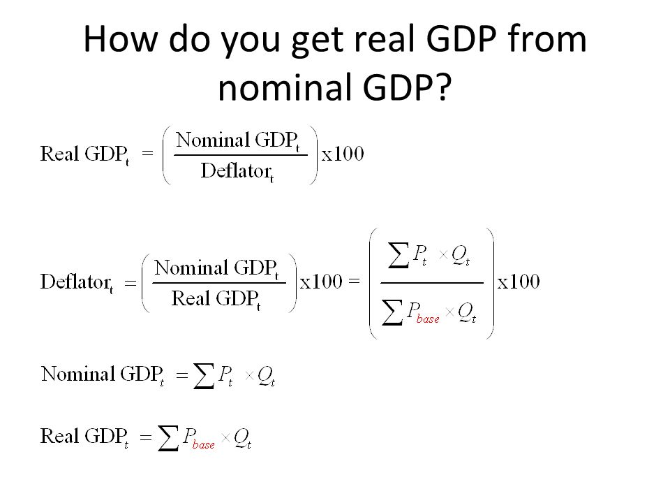 How do you get real GDP from nominal GDP