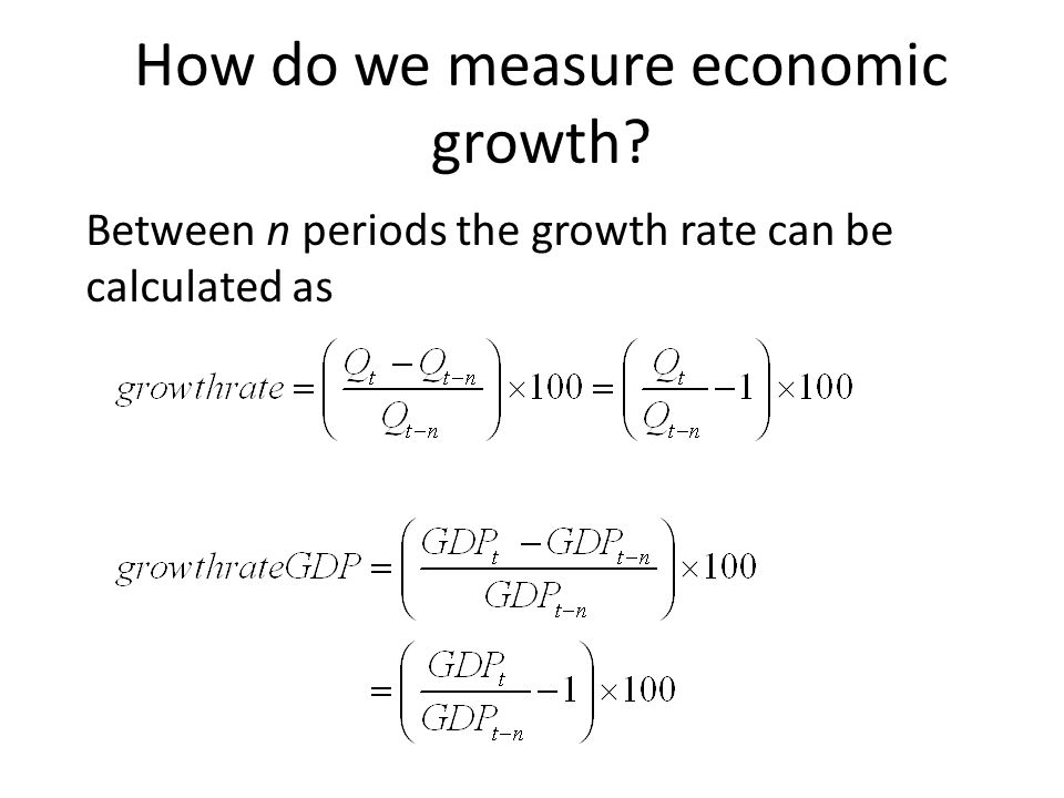 How do we measure economic growth