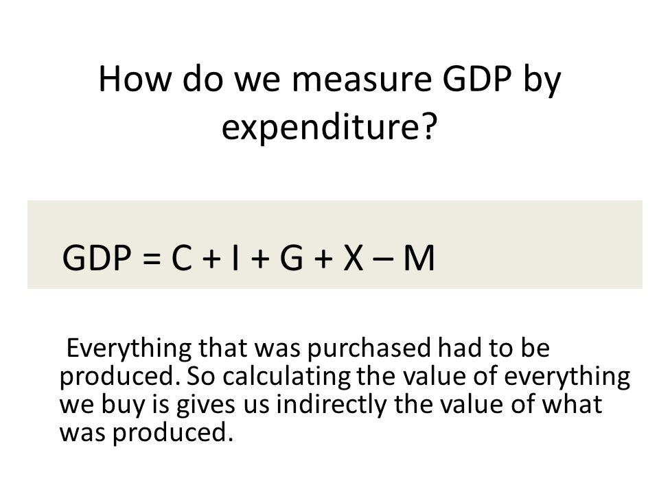 How do we measure GDP by expenditure