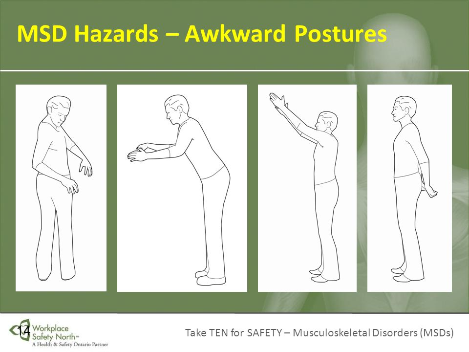 MSD Hazards – Awkward Postures