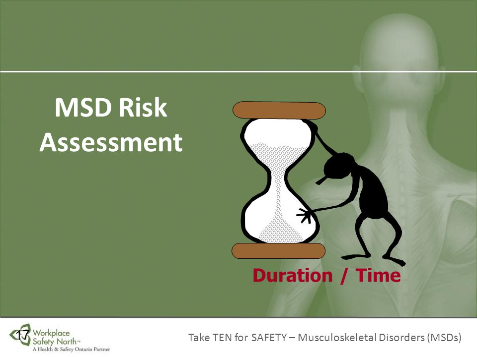 MSD Risk Assessment Duration / Time