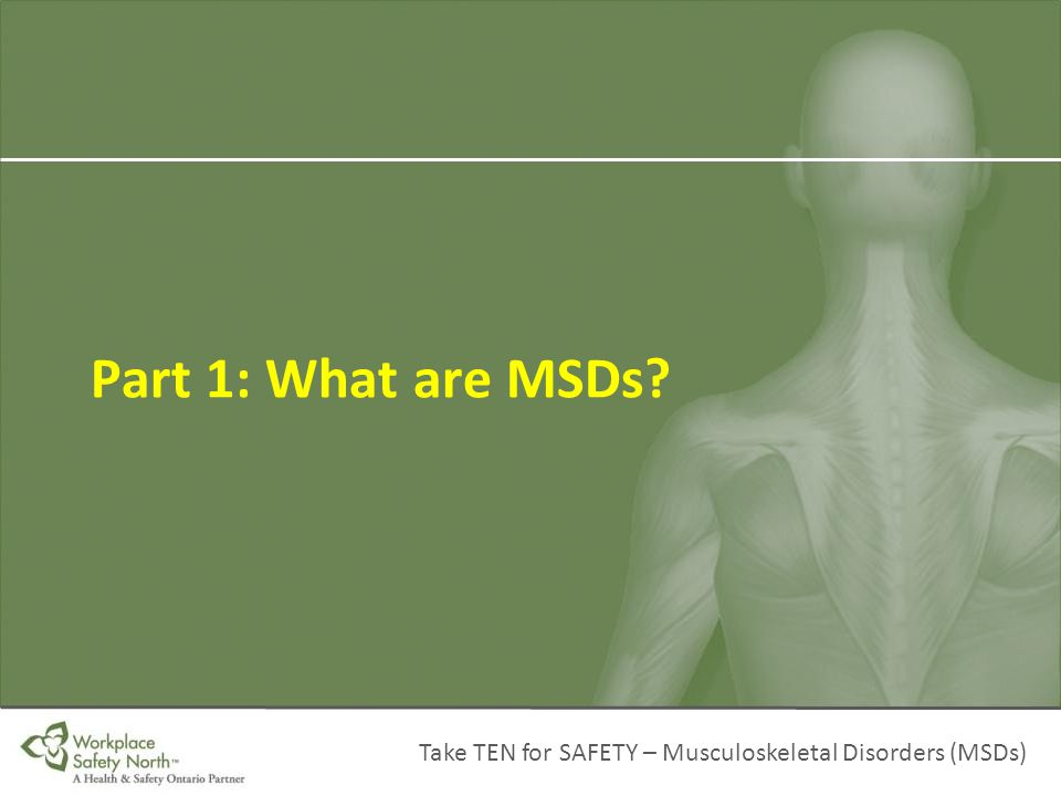 Part 1: What are MSDs