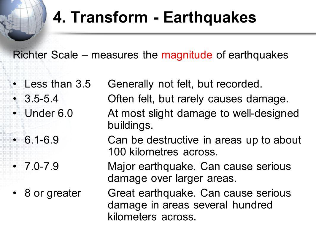 4. Transform - Earthquakes