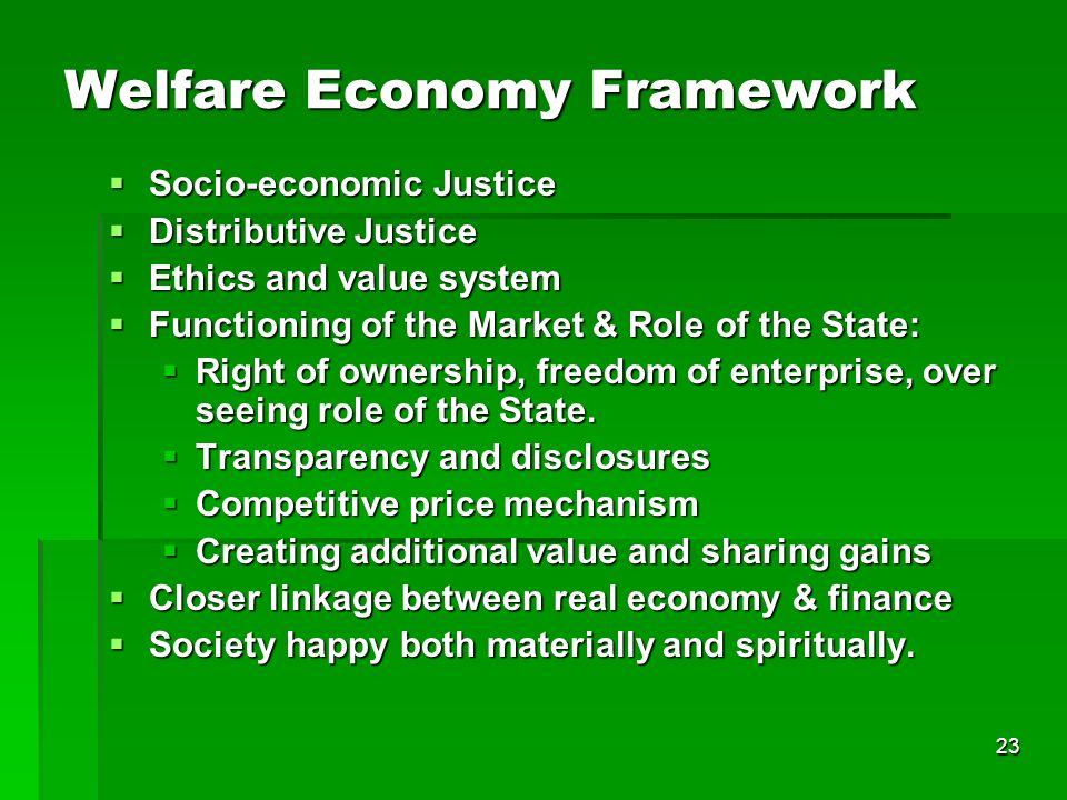 Welfare Economy Framework