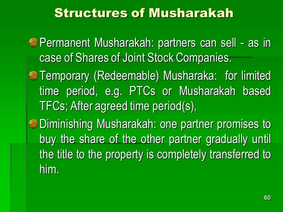 Structures of Musharakah