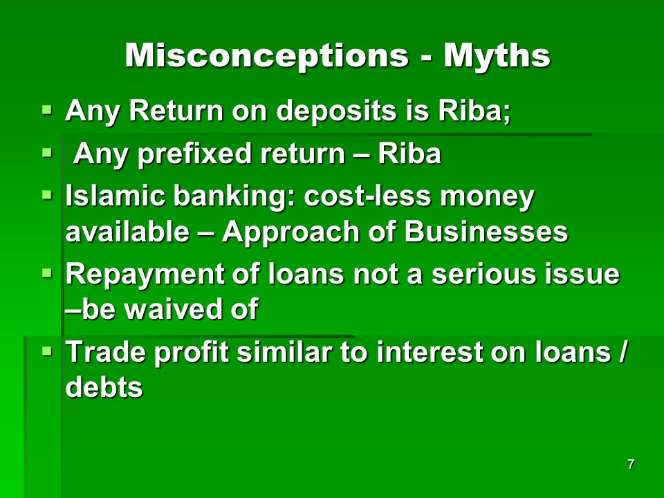 Misconceptions - Myths