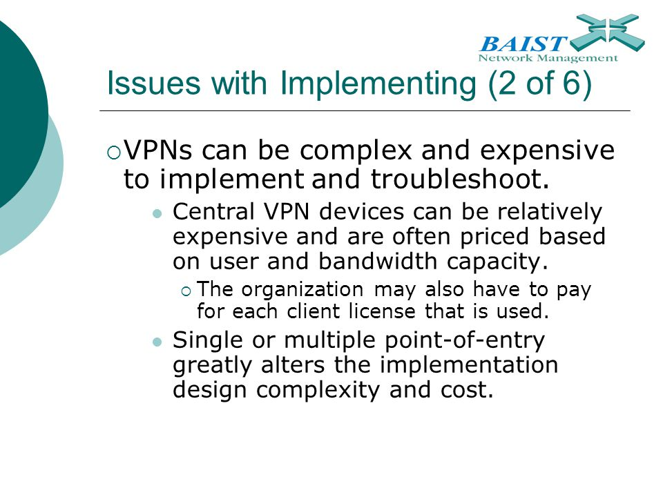 Issues with Implementing (2 of 6)