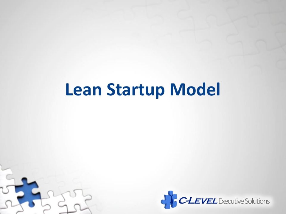 Lean Startup Model