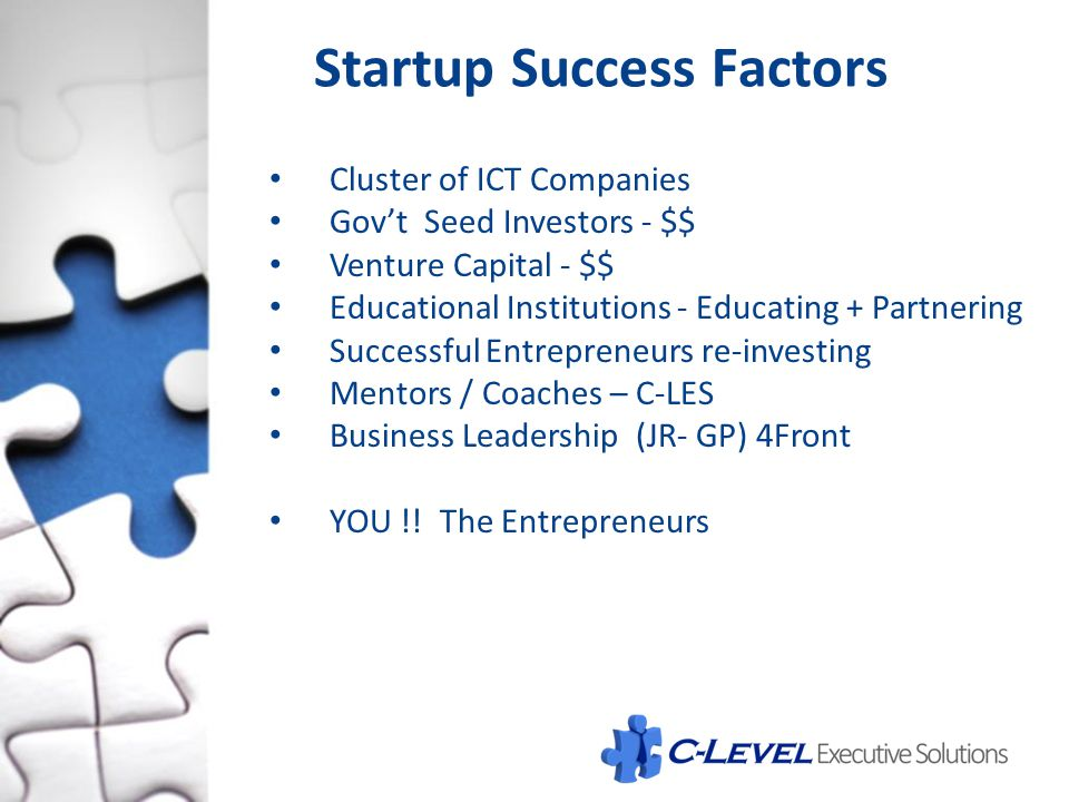 Startup Success Factors