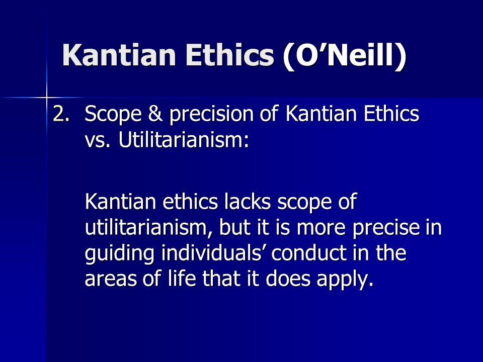 Kantian Ethics (O'Neill)