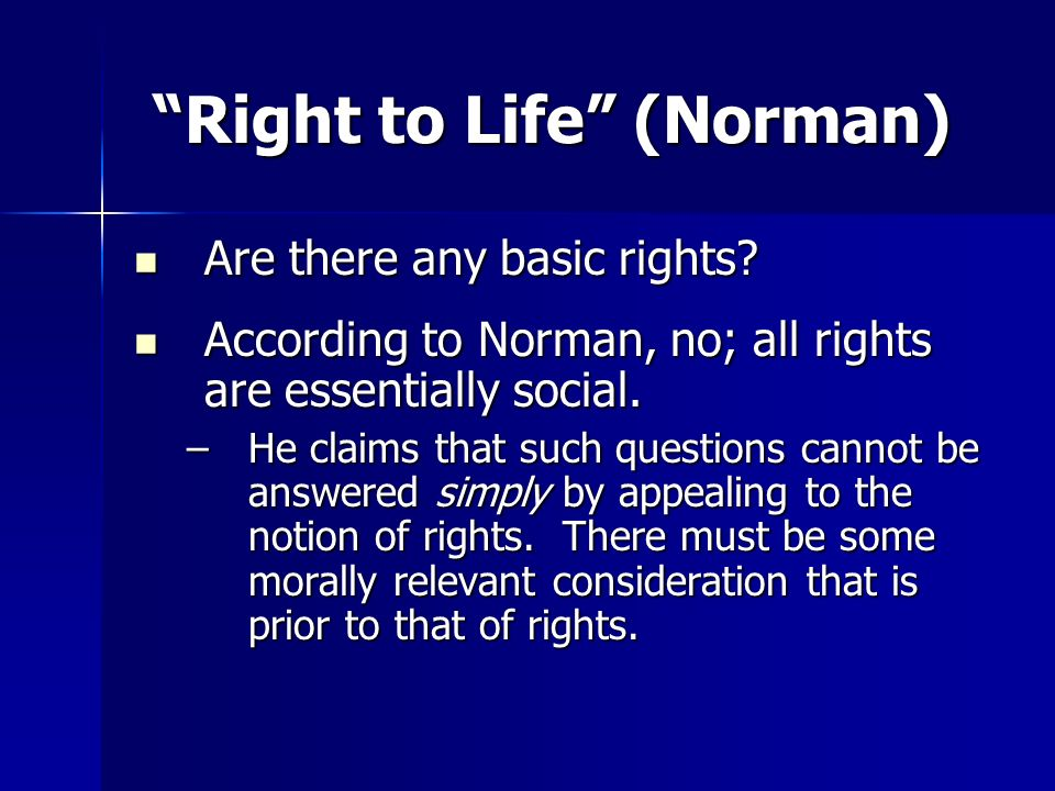 Right to Life (Norman)