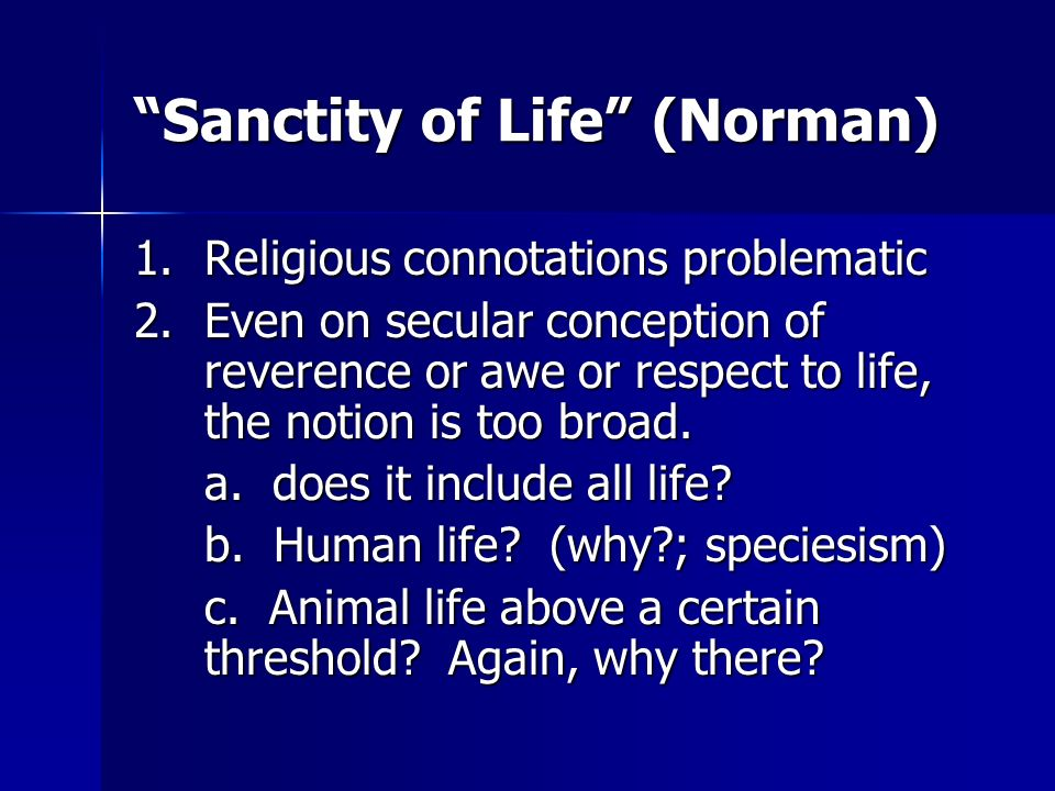 Sanctity of Life (Norman)