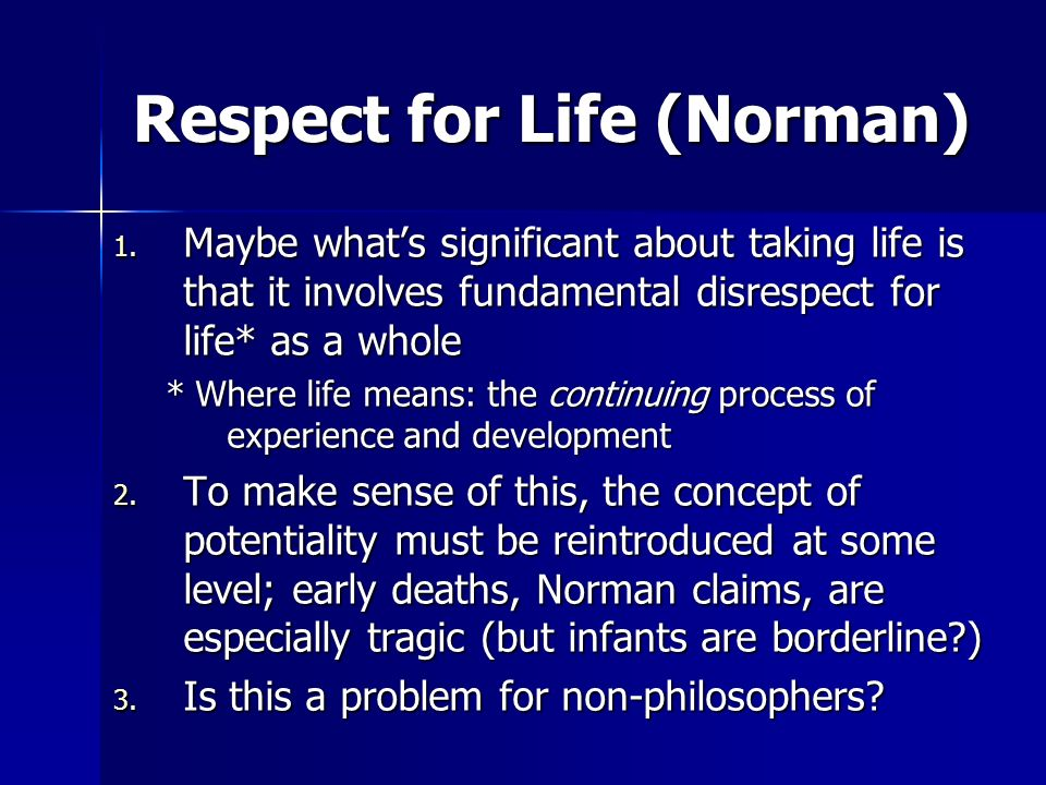 Respect for Life (Norman)