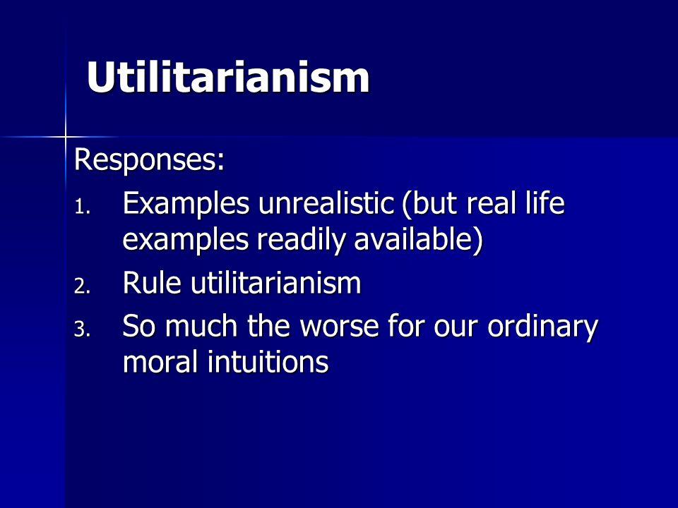 Utilitarianism Responses: