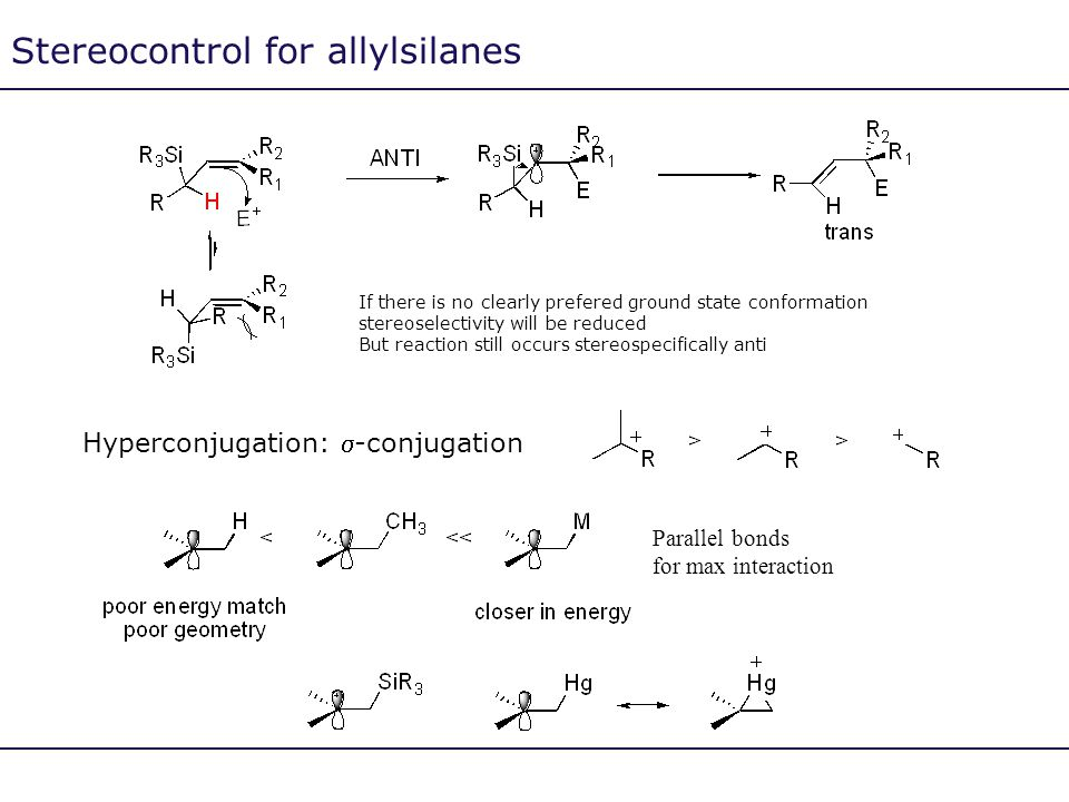 Stereocontrol for allylsilanes
