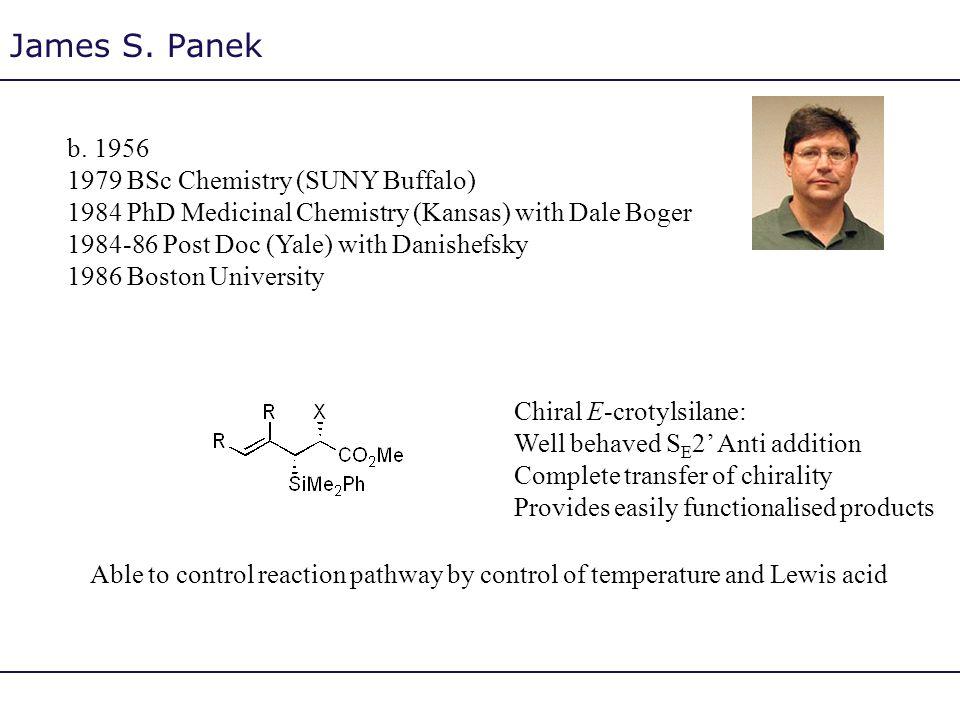 James S. Panek b. 1956 1979 BSc Chemistry (SUNY Buffalo)