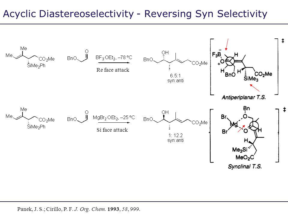 Acyclic Diastereoselectivity - Reversing Syn Selectivity