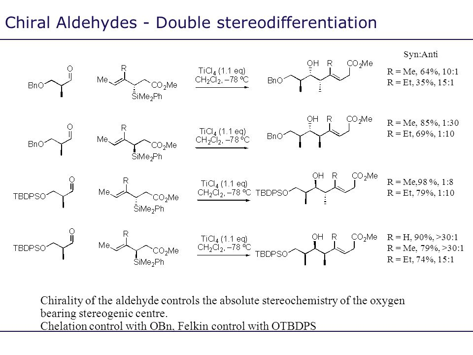 Chiral Aldehydes - Double stereodifferentiation
