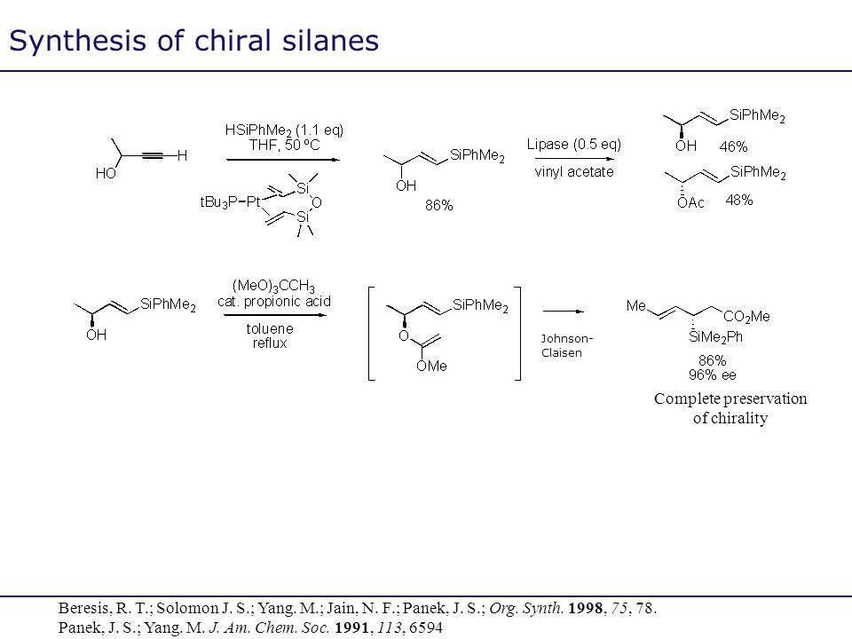 Synthesis of chiral silanes