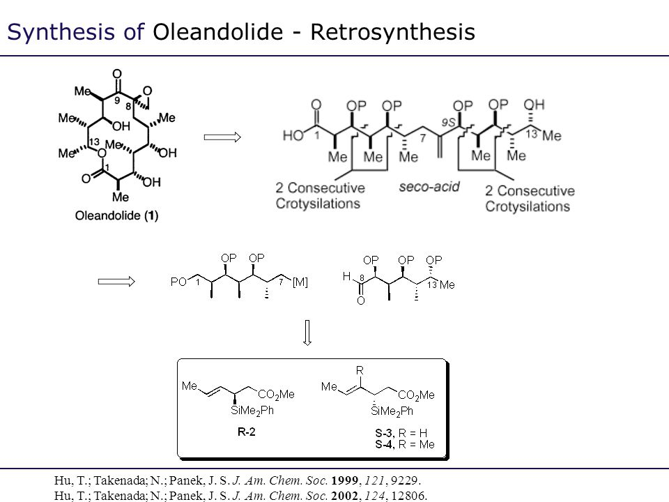 Synthesis of Oleandolide - Retrosynthesis