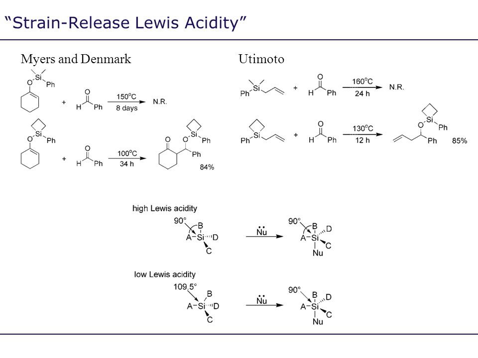 Strain-Release Lewis Acidity