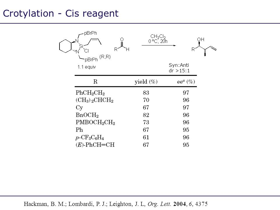 Crotylation - Cis reagent